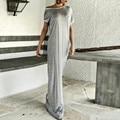 2017 Лето Dress Мода Женщины С Плеча С Коротким Рукавом Sexy Party Платья Бантом Пляж Случайные Свободные Длинные Макси Vestidos