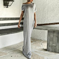 2017 Summer Dress Fashion Women Off Shoulder Short Sleeve Sexy Party Dresses Bowknot Beach Casual Loose Long Maxi Vestidos