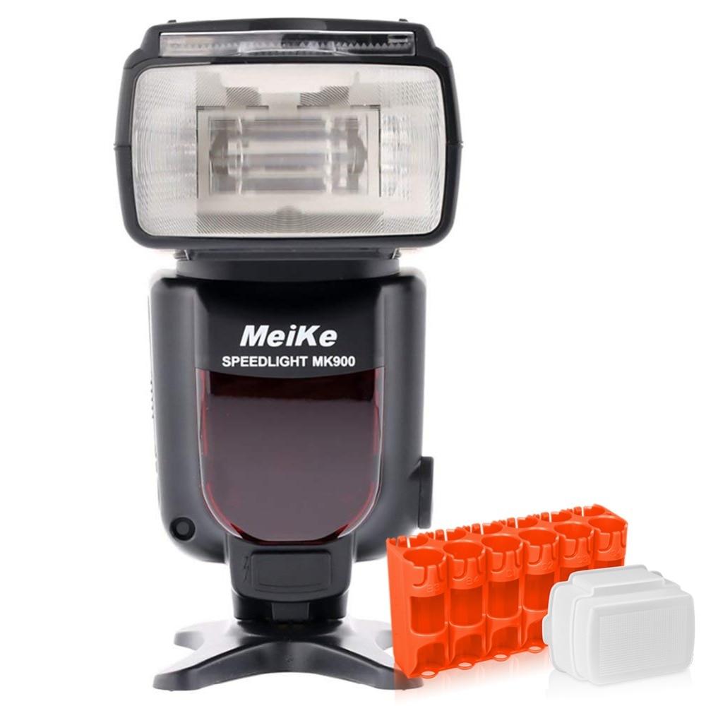 MEKE Meike MK 900 TTL kameras zibspuldzes spuldze Nikon SB 900 D7100 D7000 D5100 D5000 D5000 D800 D90 D80 + difuzoram / Caddy