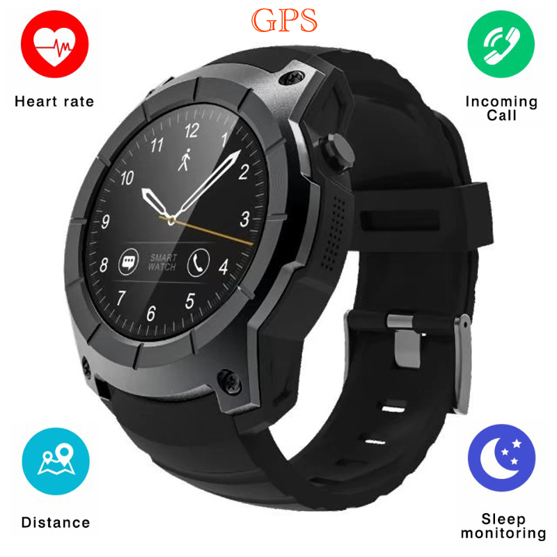 New GPS Smart Watch S958 Heart Rate Monitor Fitness Tracker Sport Pedometer Smartwatch Support SIM TF Card Waterproof Wristwatch fashion s1 smart watch phone fitness sports heart rate monitor support android 5 1 sim card wifi bluetooth gps camera smartwatch