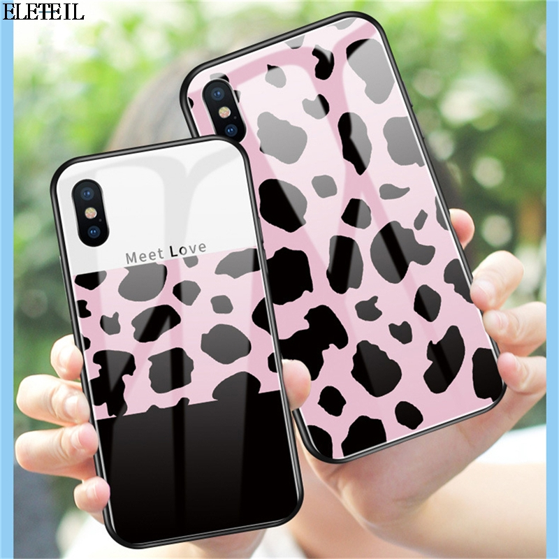 Phone Bags & Cases Eleteil Leopard Print Case For Iphone X Xr Xs Max Tempered Glass For Iphone 6 6s 7 8 Plus Protective Phone Back Cover E40 Year-End Bargain Sale