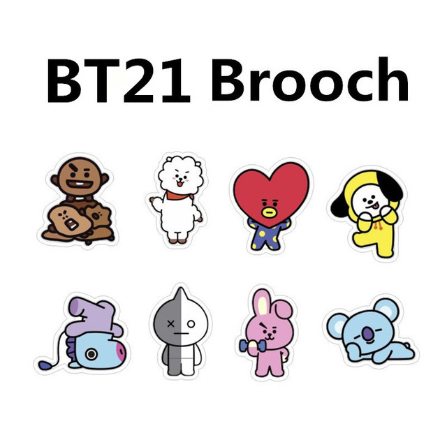 Cute Bts Drawings Wallpaper Kpop Bts Bt21 Bangtan Boys Album Brooch Pin Badge