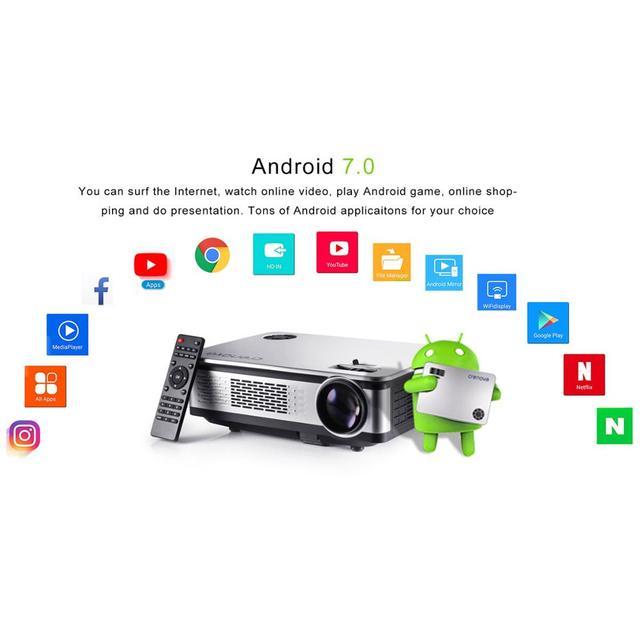 CRENOVA A76 Video Projector FullHD 4500 Lumens Android 7.1