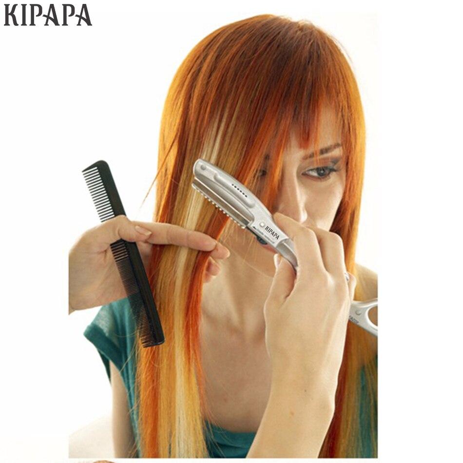 Ultraschall Hot Vibrating Rasiermesser für Haare Schneiden Schönheit Salon Styling Vermeiden Spliss Super Rasierklingen
