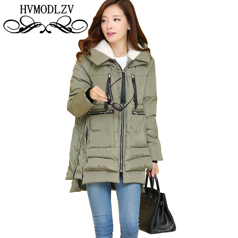 Ukraine 2017 Autumn Winter Plus Size Hooded Women Cotton Jacket Loose Thickening Cotton Coat Fashion Female Outerwear Parka L841 2017 ukraine exclusive custom winter coat magic cloth dolls and original sweet bunny ears hooded casual loose lovely cotton