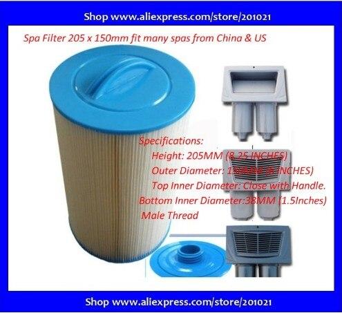 Южная Корея горячая ванна спа фильтр хорошее качество Сингапур SPA Фильтр Таиланд фильтр картридж 205x150 мм