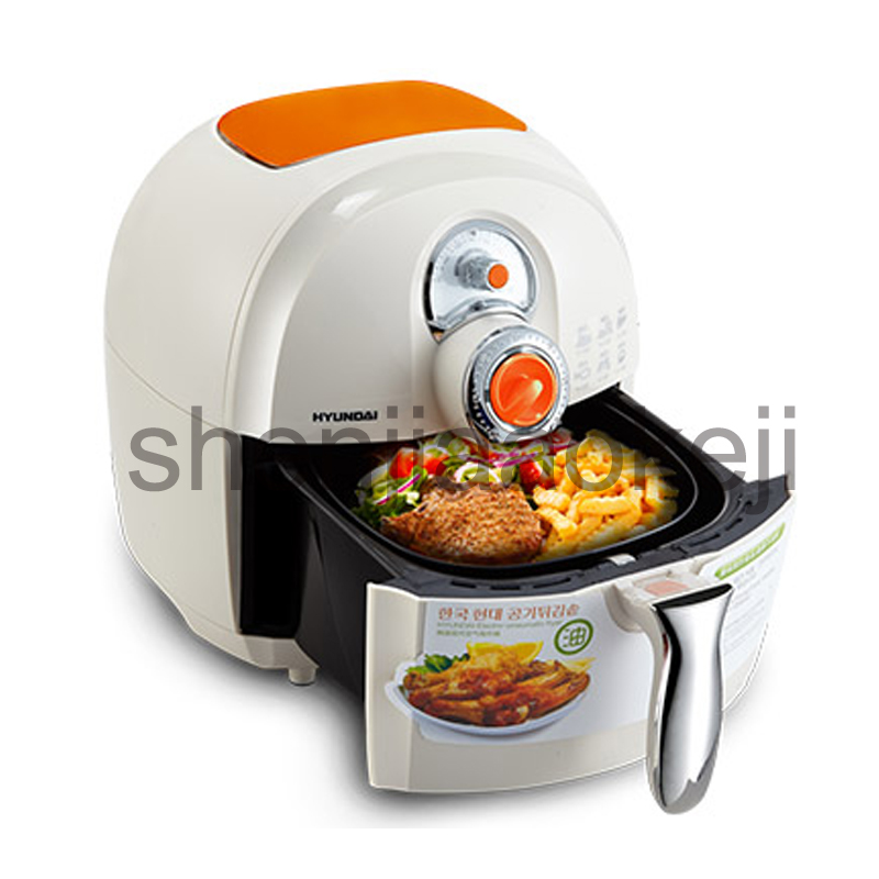Oil-free air fryer household electric fryer large-capacity fries machine fried chicken machine 220V 1400W 1pc home healthy non stick electric deep fryer smokeless electric air fryer french fries machine for home using af 100 1pc