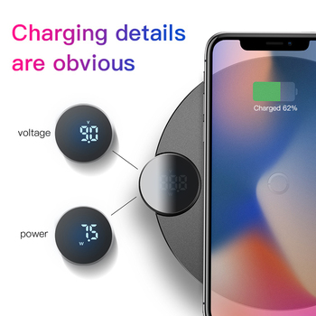 Baseus LED Qi Wireless Charger For iPhone 11 Pro Xs Max X 10W Fast Wirless Wireless Charging Pad For Samsung S10 S9 Xiaomi MI 9 1