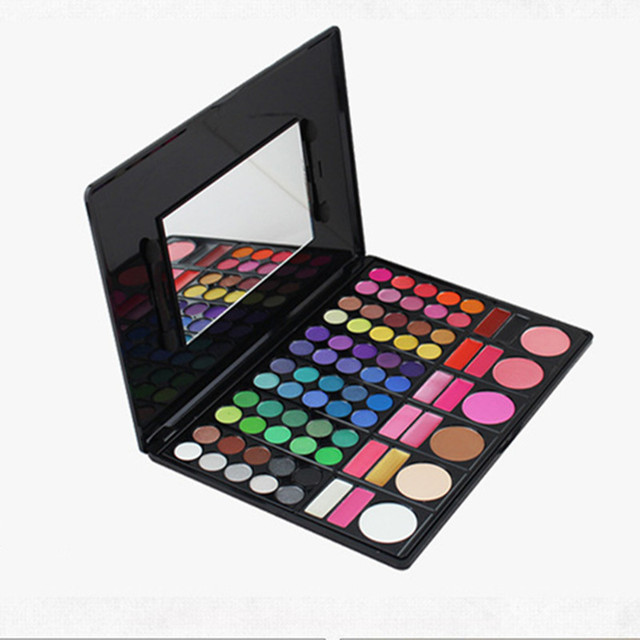 Professional 78 Color Eye Shadow with 2 Brushes Mirror Beauty Makeup Set Waterproof Female Makeup Products