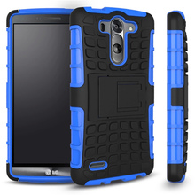 Funda For LG G3S Cover Silicone Plastic Armor Phone Holder Stand Case For LG G3 Beat