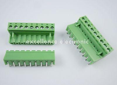 ФОТО 50 Pcs 5.08mm Pitch Right Angle 9 pin 9 way Screw Terminal Block Plug Connector