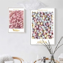 Nordic Home Decor Decoration Motivational Poster and Prints Life Quote Wall Art Canvas Painting Pink Scenery Stone starfish