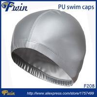 2016 New Elastic Waterproof PU Fabric Protect Ears Long Hair Sports PU Swim Pool Hat Swimming Cap Men&Women Adults Free size