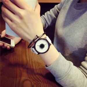 Image 3 - แฟชั่นสร้างสรรค์นาฬิกาผู้หญิงผู้ชายนาฬิกาควอตซ์BGGแบรนด์การออกแบบที่ไม่ซ้ำกันDial Minimalist Lovers นาฬิกานาฬิกาข้อมือหนัง