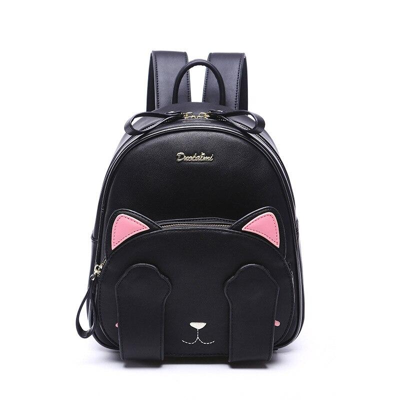 MSMO Kawaii Pişik Qulaq Sırğası Qara Preppy Style Məktəb - Bel çantaları - Fotoqrafiya 3