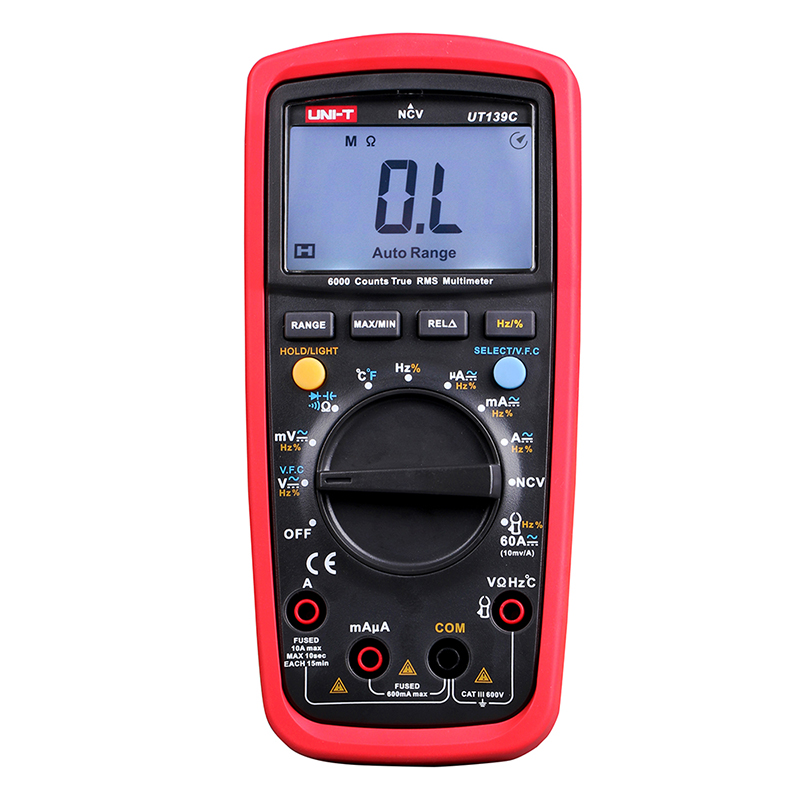 UT139C Digital Multimeter True RMS NCV Multimetr Capacitance Tester LCR Voltage Current Frequency Meter LCD Backlight UNI-T 1 pcs mastech ms8269 digital auto ranging multimeter dmm test capacitance frequency worldwide store