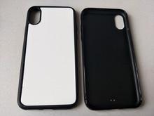 2d En Caoutchouc TPU étui de téléphone de sublimation Pour iPhone 12 11 pro XS Max / XR / 6 7 8 plus + blanc plaque daluminium 5 pièces/lot
