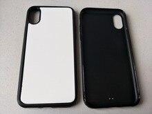 2d גומי TPU מקרה טלפון סובלימציה עבור iPhone 12 11 פרו XS מקס/XR/6 7 8 בתוספת + ריק אלומיניום צלחת 5 יח\חבילה