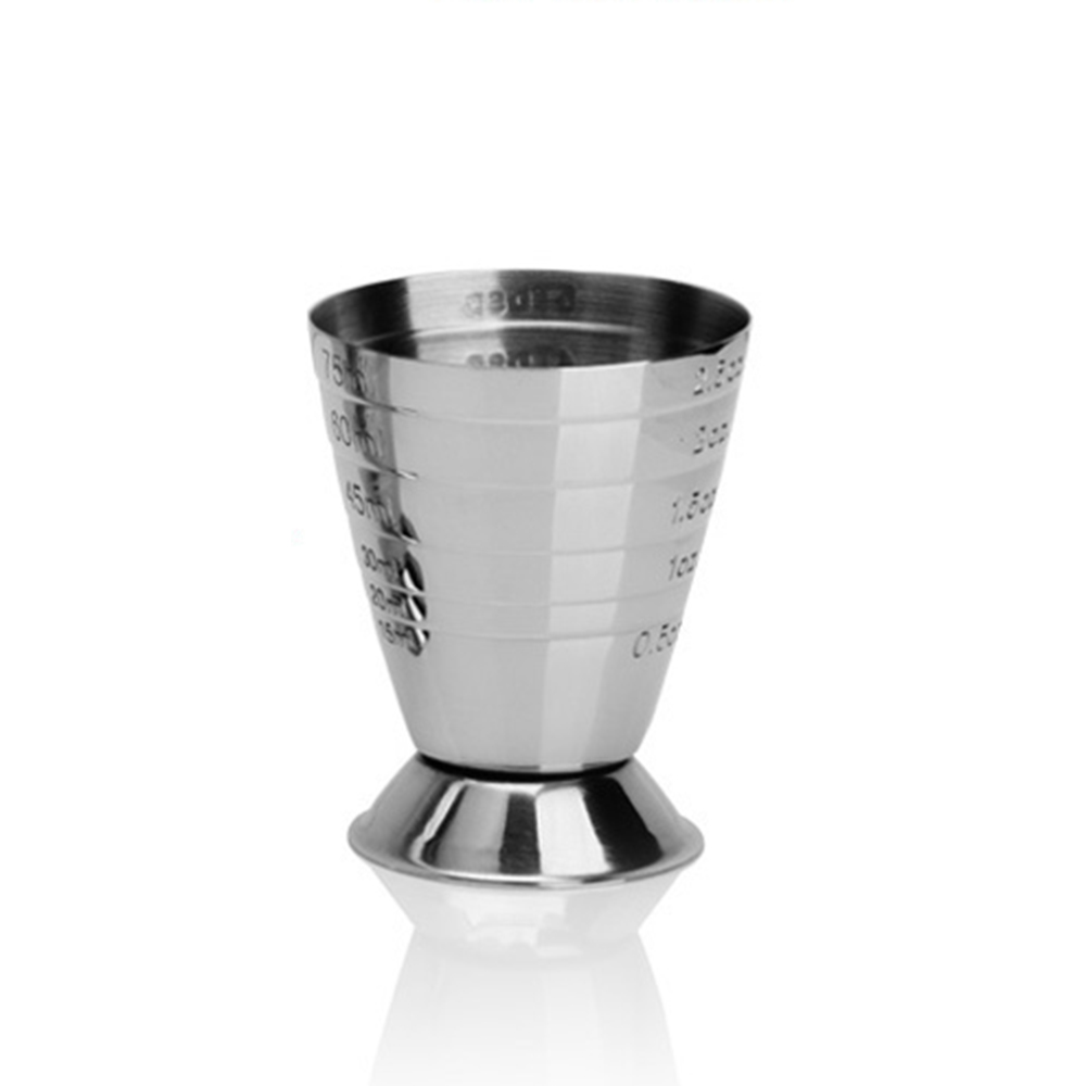 1 Pc Stainless steel Measure Cup Shot Bar Mixed Cocktail Beaker 75ml Bartending Measuring Cup Barware Кубок