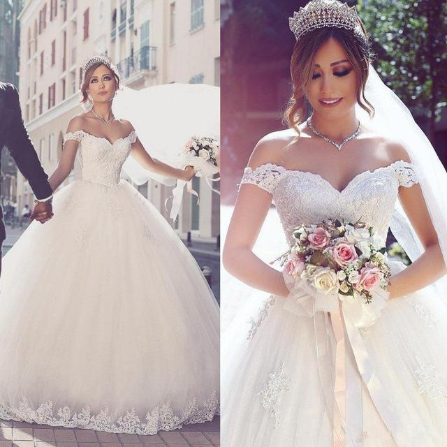 Dw2815 Princess Ball Gown Wedding Dresses 2017 Lace With: 2017 Vestios De Noiva Ball Gown Princess Wedding Dresses