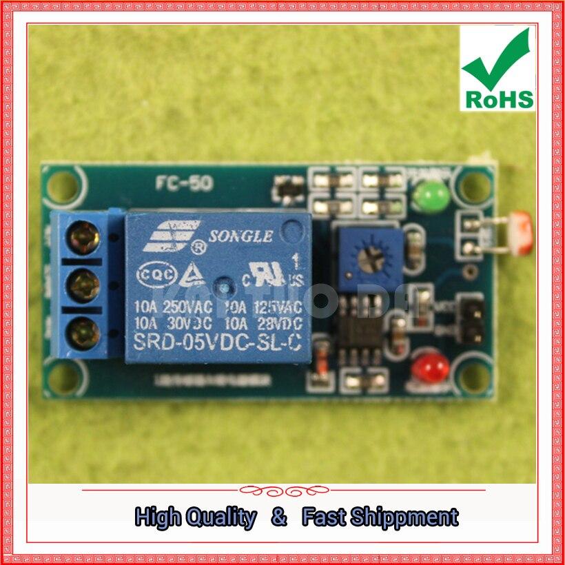 Бесплатная доставка 2 шт. 5 В фоторезистор Сенсор плюс модуль реле (нет света Сенсор) (C2A2)