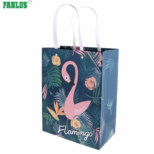 Fanlus Flamingo Sweets Candy Bags Wedding Favors And Large Gift Favor Bo Paper Bag