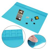 Electronic Silicone Pad Heat Insulation Working Mat Soldering Repair Station Heat Resistance Maintenance Platform 350 X