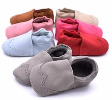 New Flock leather Baby Moccasins Infants Baby Toddler Shoes Shallow Newborn Bebe Shoes soft sole First