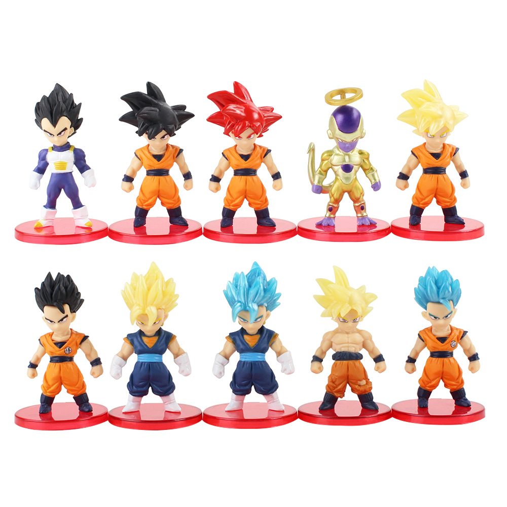 21pcs//lot Dragon Ball Super Saiyan God Action Figure Ultra Instinct Model Toys