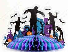 Tabletop Pendulum 3D Zombie Centerpiece Table Decor Haunted House Haunted Castle Centerpiece Spooky House Halloween Centerpiece 1piece lot centerpiece lighting remote controlled 8inch spot led light base for centerpiece table vase shisha hookah decor