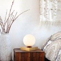 SGROW Стекло абажур настольной лампы для Спальня Гостиная столовая кабинет металлическое основание регистрации огни светодио дный Lampara свети