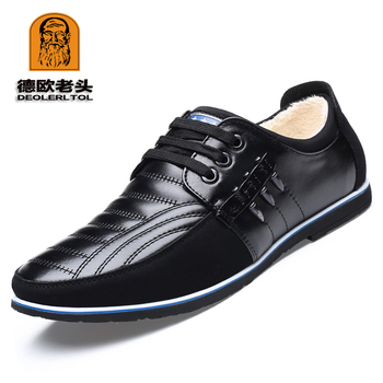 2018 Newly Winter Genuine Leather Shoes Leisure Warm Shoes Fashion Breathable Quality Man Genuine Leather Shoes
