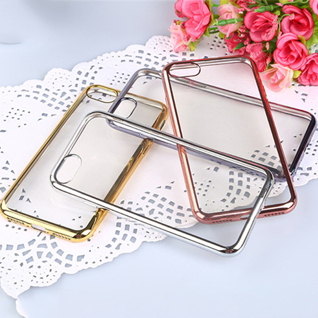 Luxury Clear Soft Cell Phone Case For LG G4 G5 G6 G 4 5 6 Back Cover Plating Frame Ultra Thin Silicone Shell Casing Capa