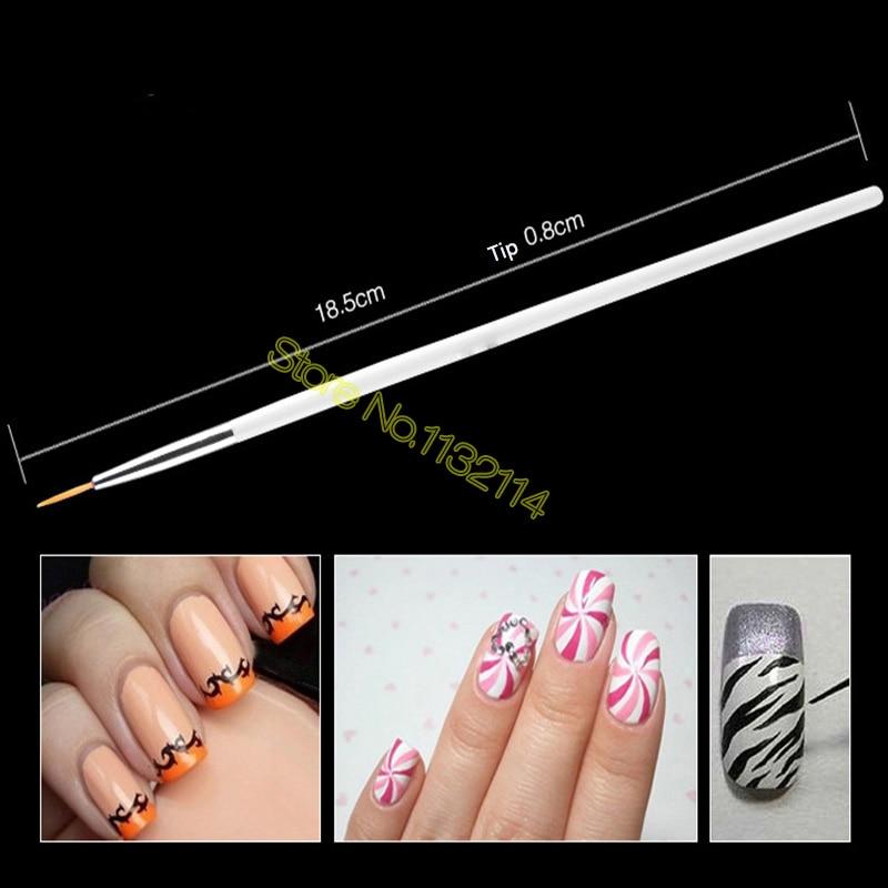 15 unids Profesional UV Gel Acrílico Nail Art Brush Set Diseño Gel - Arte de uñas - foto 5
