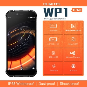"Image 2 - Oukitel Wp1 Ip68 Waterproof 4gb 64gb 5000mah Mtk6763 Octa Core 5.5"" Hd+ 18:9 Display Wireless Charging Tri proof Smartphone"