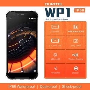 "Image 2 - Oukitel Wp1 Ip68 étanche 4gb 64gb 5000mah Mtk6763 Octa Core 5.5 ""Hd + 18:9 affichage sans fil charge Smartphone Tri preuve"
