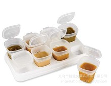 WENDYWU Authentic Korean baby food supplement box storage boxes snack boxes of milk powder tableware 120ml and 70ml