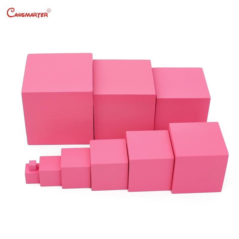 Jouets mathématiques mat rose tours blocs Cubes pour enfants 3 6 ans préscolaire enseignement aides enfants jeux jouet sensoriel formation SE003 3 - 2