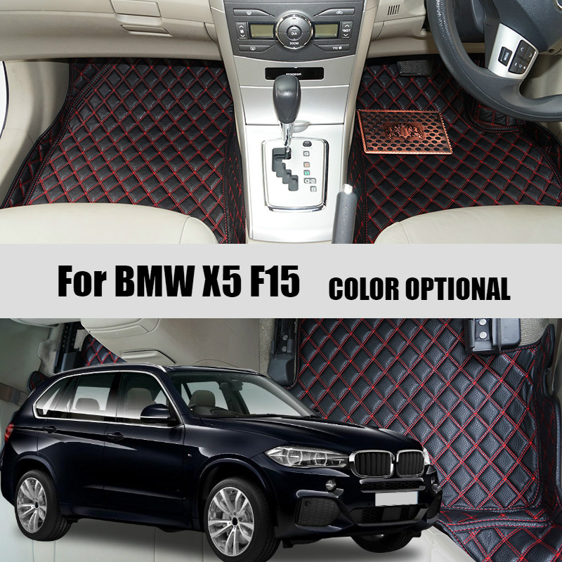 Custom Car floor mats carpet for BMW X5 E53 2004-2006 / X5 E70 2008-2013 / X5 F15 2014-2016 Auto accessories Car styling for bmw e53 x5 2004 2006 4dr lci facelift car front grille grills car styling covers grilles