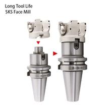Высокая подача sks фрезерование SKS-50-22-4 63-22-4T 80-27-5T вставленный наплечный резак Facemill 50 мм для Dijet WDMW080520