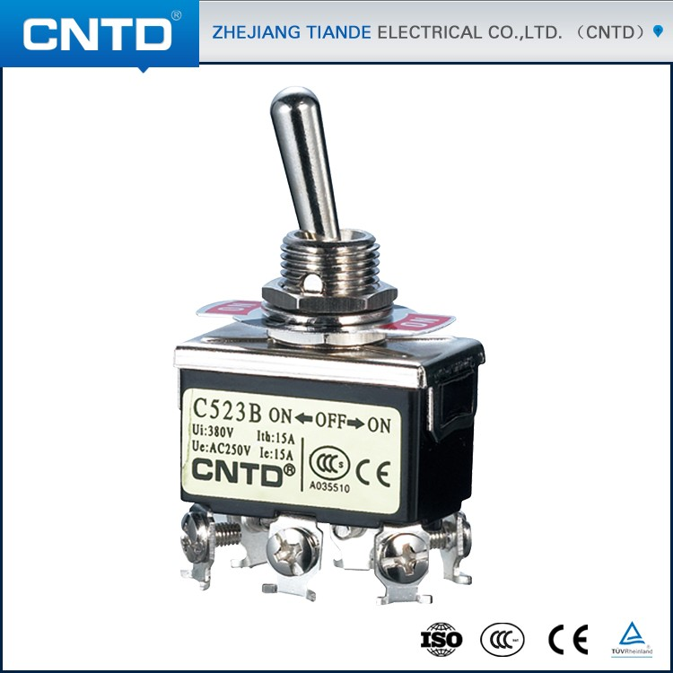 China CNTD DPDT ON-OFF-ON 8Pin Spring Return Toggle Switch 220V (C5R23B) b p r d hell on earth volume 8 lake of fire