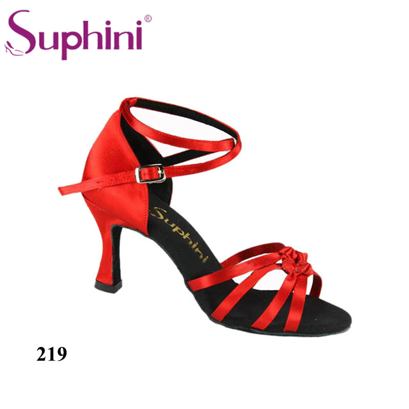 Free Shipping DHL 3-7 DAYS Suphini Latin Dance Shoes for Woman Deep tan Professional Dance Shoes free shipping suphini you can choose heels latin dance shoes basic model woman latin dance shoes