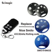 Agradável Smilo substituição controle remoto rolling code 433.92 mhz compatível com Agradável Smilo S2/Agradável Smilo S4 portão Remoto transmissor
