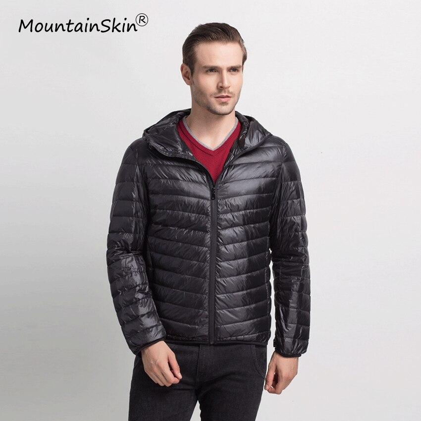Mountainskin 2017 Men s Warm Ultralight Down Jackets Solid Thin Winter Lightweight Fashion Coats Men s