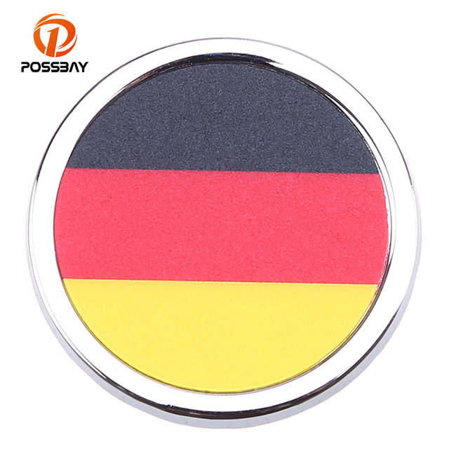 Possbay 1pcs round mini stickers car decoration stickers for canada germany america switzerland russia netherlands flap