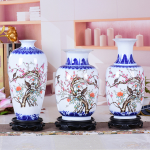 Image 5 - Blue and White Ceramic Vase Pheonix Porcelain Flower Ancient Chinese Figure Story Pattern Vase Handmade Jingdezhen Flower Vases