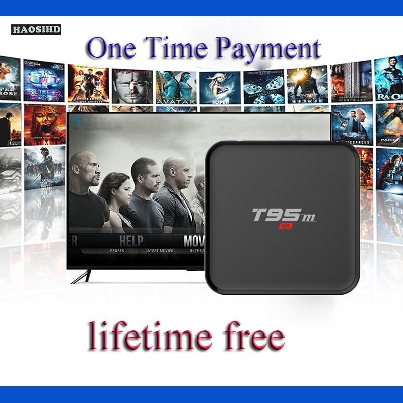T95M жизни бесплатный арабский IPTV коробка без абонентской платы Android Поддержка ТВ коробок 2000 + Арабский спортивные Австралия Франция Каналы