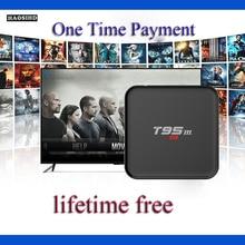 T95M жизни Бесплатная Арабский IP ТВ коробка без абонентской платы Android ТВ коробка Поддержка 2000 + Арабский спортивные Австралия Франция каналы Live ТВ