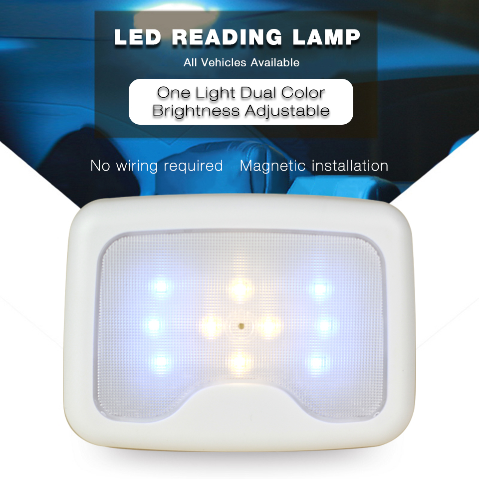 Ldrive dual color magnet interior reading light lamp - Battery operated car interior lights ...