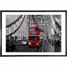 London Bus Bridge Vintage Picture Canvas Posters and Prints 12X16 16X24 20X30 24X36 Inch Cloth Print Wall Art Home Decor(China)